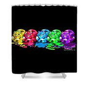 Rainbow Painted Cats Shower Curtain