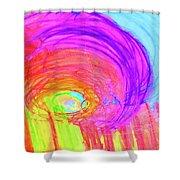 Rainbow Shell Shower Curtain