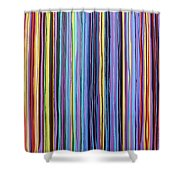 Rainbow Stripes Purple Gold 201912 Shower Curtain