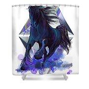 Rainbow Unicorn Shower Curtain by Sassan Filsoof