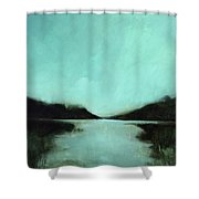 Rainy Day At The Lake Shower Curtain