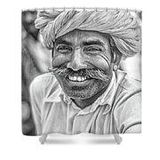 Rajput High School Teacher Bw Shower Curtain