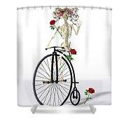 Rambling Rosy  Shower Curtain
