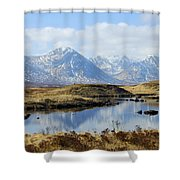 Rannoch Moor In Winter Shower Curtain