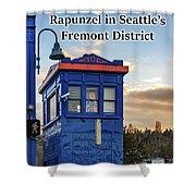 Rapunzel In Seattle's Fremont District Shower Curtain