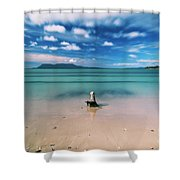 Raspins Beach In Orford On The East Coast Of Tasmania. Shower Curtain