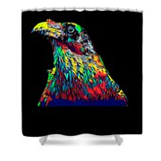 Raven Head Weird Bird Lucky Vintage Design Shower Curtain