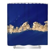 Rays And Clouds  Shower Curtain