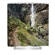Raysko Praskalo Waterfall, Balkan Mountain Shower Curtain