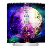 Reach Out To The Stars Shower Curtain by Bee-Bee Deigner