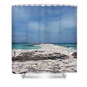 Reaching Out To Ibiza Shower Curtain