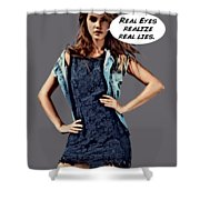 Real Eyes Shower Curtain