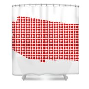 Red Dot Map Of Arizona Shower Curtain
