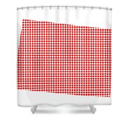 Red Dot Map Of Colorado Shower Curtain