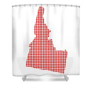 Red Dot Map Of Idaho Shower Curtain