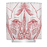 Red Face Shower Curtain