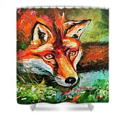 Red Hunter Shower Curtain