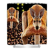 Red Kangaroos Shower Curtain