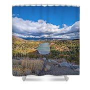 Red Lake Shower Curtain