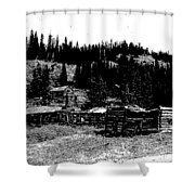 Red Lion Ghost Town Montana Shower Curtain