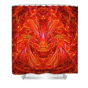 Red Lion Shower Curtain