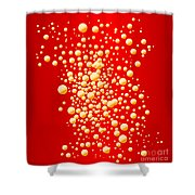 Red Party Bubble Background Shower Curtain