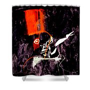 Red Room Zoom Shower Curtain