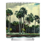 Red Shrt, Homosassa, Florida Shower Curtain