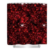 Red Spider Bokeh Pattern Shower Curtain