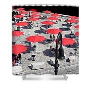 Red Umbrellas 2 Shower Curtain