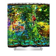 Redbird Singing Songs Of Love In The Tree Of Hope Shower Curtain