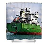 Redhead Freighter Shower Curtain