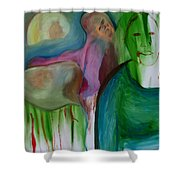 Reflected Moon Shower Curtain