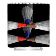 Reflecting Colour Pencils Shower Curtain by Garvin Hunter