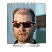 Reflecting On A Mission Shower Curtain