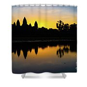 Reflections Of Angkor Shower Curtain