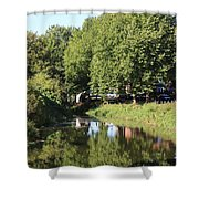Reflections Of Bridgewater Canal - 1 Shower Curtain