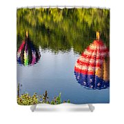 Reflections On The Androscoggin Shower Curtain