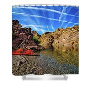 Reflections On The Colorado River Shower Curtain