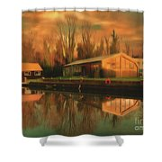 Reflections On The Wey Shower Curtain