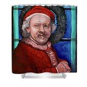 Rembrandt Santa Shower Curtain