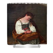 Repentant Mary Magdalene Shower Curtain
