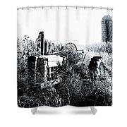 Retired John Deere Tractor 1 Shower Curtain