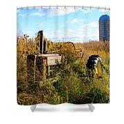 Retired John Deere Tractor 2 Shower Curtain