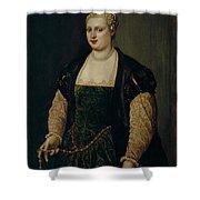 Retrato De Mujer   Shower Curtain