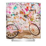 Retro City Cycle Shower Curtain