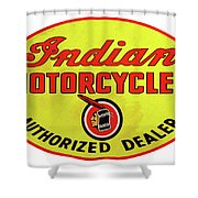 Retro Indian Motorcycles Shower Curtain