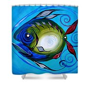 Return Fish Shower Curtain