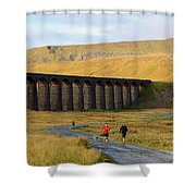 Ribblehead Viaduct In Late Autumn North Yorkshire Shower Curtain