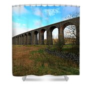 Ribblehead Viaduct On The Settle Carlisle Railway North Yorkshire Shower Curtain